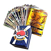 120Pcs Poke Cards,EX Full Art TCG Style Card, Include 30 Team Up, 50 Mega, 20 Trainer, 20 Ultra Beast GX Card, For Collections And Children's Toys