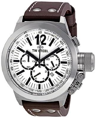 Reloj TW Steel CE 1007 de caballero con correa de piel marrón de TW Steel