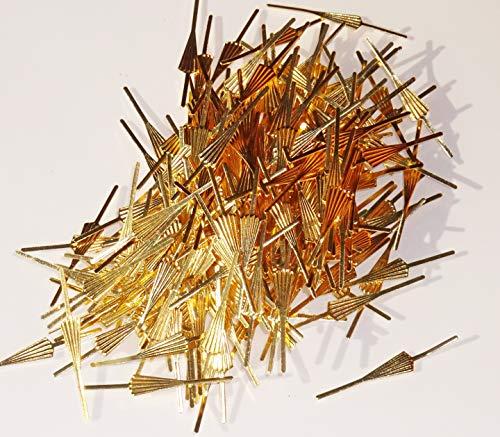 Licht-kristall-glas (250 Messing Finish Pfeil fächerförmiges Verschlüsse Antik Look Metall Kronleuchter Licht, links zum Ketten Girlanden Glas Kristalle Drops Prismen Tropfen Perlen Lampe Teile Komponenten Beleuchtung)