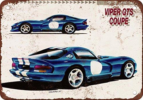 1993-dodge-viper-gts-coupe-reproduccion-de-aspecto-vintage-metal-tin-sign-7-x-10-pulgadas