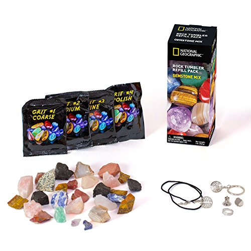 National Geographic Rough Gemstone Refill Kit For Rock Tumbler By National Geographic