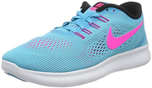 Nike Damen Free Rn Laufschuhe Hellblau/Rosa
