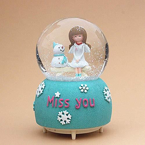 BYBAY Music Box Kristallkugel Spieluhr Spieluhr Rotierendes Licht, um Männer und Frauen Freunde Klassenkameraden Freundinnen Kinder Mädchen Geburtstagsgeschenke zu senden