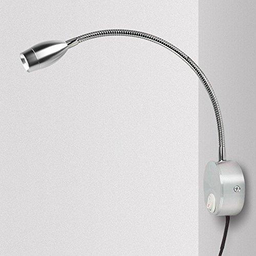 Lampe Chevet Murale, Applique Liseuse LED Col de Cygne Lumière 3W Lampe de Lecture avec...