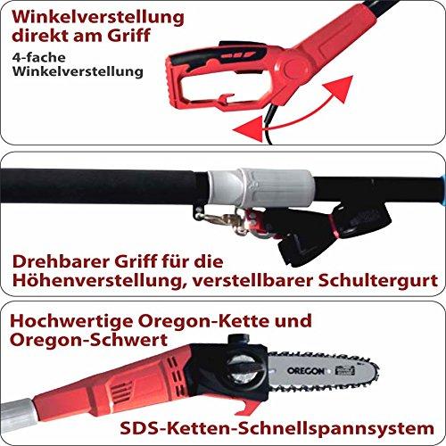 Germania Astkettensäge 710W Teleskop 2,0-2,8m Astsäge Hochentaster Kettensäge -
