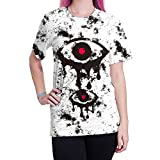 BesserBay Womens Tearful Eyes Graphic Printing Tshirt Awesome Crewneck Tee 2XL