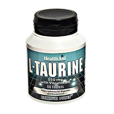 HealthAid L-Taurine 550mg - 60 Tablets by HealthAid