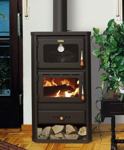 Prity FM, stufa con forno a legna, 12 kW
