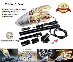 hhd aspirateur de voiture 4 en 1 multifonction aspirateur main voiture gonfleur. Black Bedroom Furniture Sets. Home Design Ideas