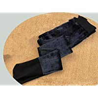Leggings Medias de Terciopelo Cómodas, Sencillas Y de Terciopelo para Mujer, Calcetines Más Gruesos,Negro,Una Talla