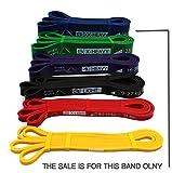 Ryher Banda elástica de Resistencia para dominadas - Banda de Ejercicios para Fitness, Crossfit, Asistente para pullups o Levantamiento de Pesas (Individual #6 Azul - de 29 a 80 kg)