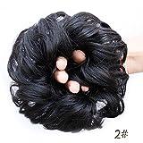 Gelockt Haar Dutt Donut Haar chignons gewellt Kunsthaar Haarteil Dutt, lockig mit Elastic Haar Krawatte Haar-Accessoires für Frauen