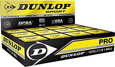 Dunlop profesional avanzado jugadores oficial de pelotas de squash (caja de 12