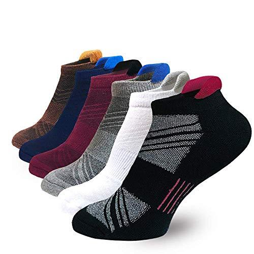 SOOVERKI Herren Sportsocken 6 Paar Laufen Sport Performance Beste Komfort Gepolsterte Low Cut Tab Socken L und XXL - - XX-Large -