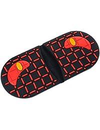 Footful Tacones De Zapatos De Caucho Antideslizante Negro De Reparación De Calzado