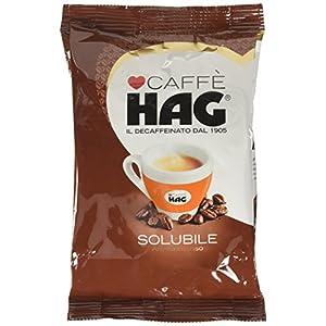 Hag - Caffè Solubile Decaffeinato - Miscela Caffè Istantaneo Aroma Intenso - 20 Confezioni - Pacco da 100 gr