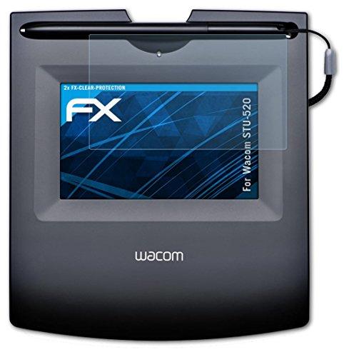 Wacom STU-520 Schutzfolie - 2 x atFoliX FX-Clear kristallklare Folie Displayschutzfolie