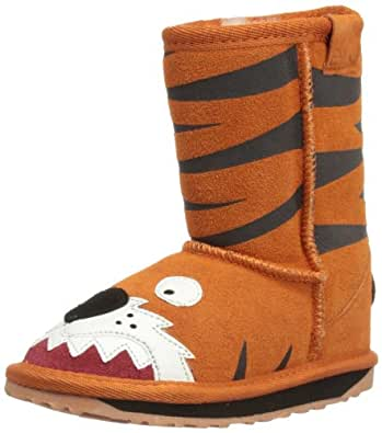 Emu Little Creatures Tiger K10686, Unisex-Kinder Schneestiefel, Orange (Orange), EU 33/34 (UK 1) (US 2)