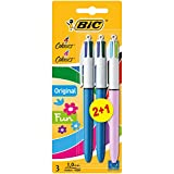 BIC 4 Colour Pens Value Pack includes Standard Pens /  Fashion Pen - Colour Free