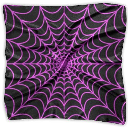 Pizeok Multi-Colors Design Square Satin Womens Neck Head Scarf Scarves Halloween Spider Web (Dog Halloween Spider)