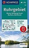 Ruhrgebiet: 2 Wanderkarten 1:35000 im Set inklusive Karte zur offline Verwendung in der KOMPASS-App. Fahrradfahren.: Wandelkaart 1:35 000 (KOMPASS-Wanderkarten, Band 823)