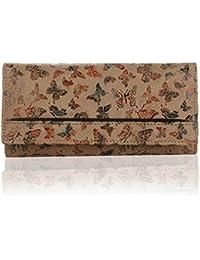 K London Butterfly Pattern Artificial Leather Women's Wallet (1515_Butterfly)