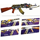 Alien Gun Toy - High Grade Dragon Cross Fire Antique Pallet Gun Toy - 34 Inches, Big Size - With Laser, 6mm BB Bullets - Rifle Air Gun Toy For Kids