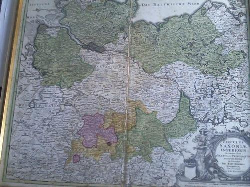 Circulus Saxoniae Inferioris in omnes suos Status et Principatus accurate divisius ex conatibus. Karte im Kupferstich