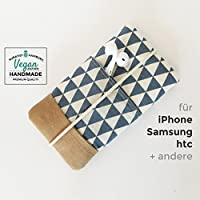 iPhone-Tasche Petrol / Handytasche / Smartphone Case / Vegane Handytasche / Vegane Accessoires / Geschenk für sie / Weihnachtsgeschenk