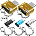 5 pcs Type-C Adapters with Keychains, AFUNTA USB-C (Male) to Micro USB and USB 2.0 (Female) with Micro USB 2.0 OTG, Type C Convert Connector Fast Charger for Samsung S8 New Macbook Pixel XL Nexus from AFUNTA