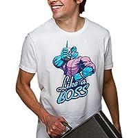 Camisa de juegos autorizadas gran impresión delantera blanca Liga de Leyendas Mundo camiseta