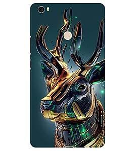 Chiraiyaa Designer Printed Premium Back Cover Case for Xiaomi Mi Max (deer vibrant 3d) (Multicolor)