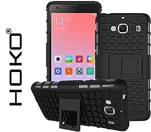 Redmi 2s Case, Xiaomi Redmi 2s Case, HOKO® Defender Series Dual Layer Hybrid TPU + PC Kickstand Case Cover for Xiaomi Redmi 2s (Black)