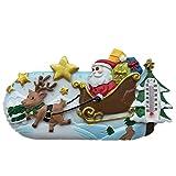 Santa Claus - Imán para nevera, diseño de ciudad navideña, resina 3D, ideal como regalo de recuerdo o turista, hecho a mano, creativo para el hogar y la cocina, adhesivo magnético