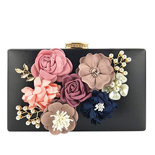 Mitlfuny handbemalte Ledertasche, Schultertasche, Geschenk, Handgefertigte Tasche,Damen Flower Clutches Abendtaschen Handtaschen Hochzeit Clutch Geldbörse