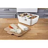 Tomorrow's Kitchen Panera y Salsera, plástico,bambú, Blanco, 5 cm