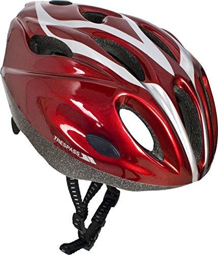 Trespass Tanky, Metallic Red, 52/56, Leichter Fahrradhelm mit Rundumbelüftung für Kinder / Jugendliche / Unisex / Mädchen und Jungen 10-17 Jahre, 52-56cm Kopfumfang,...