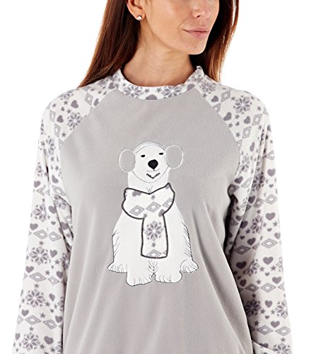 i-smalls Ltd Damen Pyjama Schlafanzug Grau/Creme