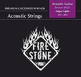 Fire and Stone 665475 Cordes pour Guitare Acoustique 80/20 Bronze