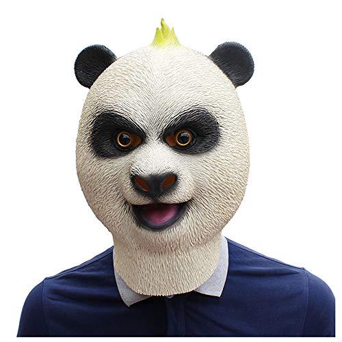 Fu Kostüm Kung Panda - YaPin Kung Fu Panda Chinesische Riesenpanda Maske Latex Tiermaske Halloween Kostüm Party Maske