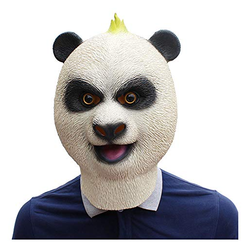 YaPin Kung Fu Panda Chinesische Riesenpanda Maske Latex Tiermaske Halloween Kostüm Party Maske (Erwachsene Kung Fu Panda Kostüme)