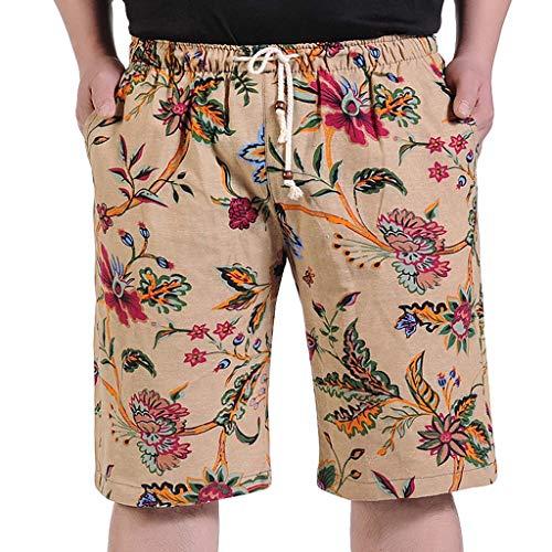 Herren-Shorts, Männer Sommer Mode Lässig Plus Size Druck Lose Strand Sport Shorts Hosen Malloom