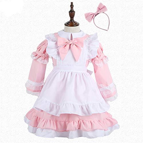 Kostüm Pink Kid's Pirat - FDHNDER Child Cosplay Kleid Verrücktes Kleid Partei Kostüm Outfit Kindermädchen Kostüm Cosplay Kostüm, pink, M- (Höhe 100-120)