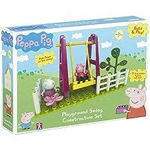 Peppa Pig - Build & Play - La oscilación del parque - Construction Set 2 Mini Figuras