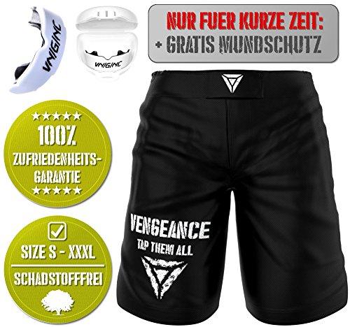 Vengeance Premium Shorts   + GRATIS MUNDSCHUTZ (Werbeaktion) + E-Book (HCG-Diät)   S - 3XL   MMA, Krav MAGA, BJJ, Boxen, Kickboxen, Kampfsport, Fitness   Kurze Hose   Herren & Damen   (L)