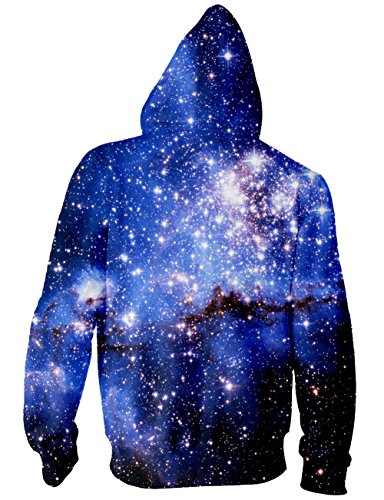 BFUSTYLE Unisex Galaxy Nebula Zip Up Hoodie All Over Print Jacket Sweatshirt 2017 style-Galaxy 4