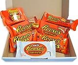 Reeses Schokolade Geschenkkorb | 8 verschiedene US amerikanische Süßigkeiten | Peanut Butter Erdnussbutter Schokolade | Reese's Sticks, Pieces, Big Cup und mehr