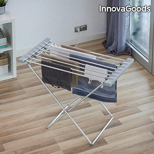 InnovaGoods Tendedero Eléctrico, Aluminio y ABS, Plateado, 94x74x50 cm