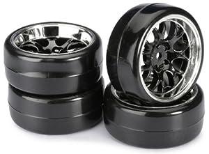 Absima - Wheel Set Drift LP  Comb/Profile B black/chrome 1:10 (4 pcs) (2510041)