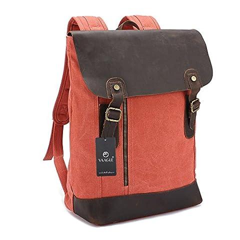 YAAGLE Verücktes Pferd outdoor Reisetasche schick Rucksack Gepäck Herren Schultertasche Business Taschen-rot